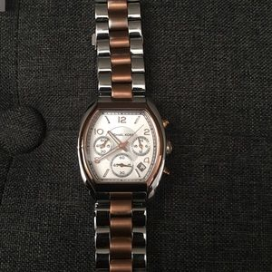 Michael Kors Rose Gold And Stainless Steel Women's